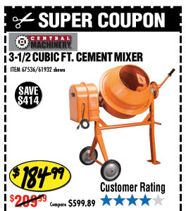 3-1/2 Cubic Ft. Cement Mixer