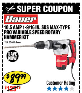 10.5 Amp 1-9/16 in. SDS Max-Type Pro Variable Speed Rotary Hammer Kit