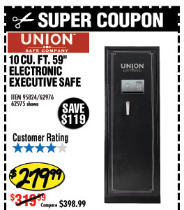 10 cu. ft. 59 in. Electronic Executive Safe