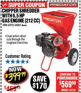 6.5 HP (212cc) Chipper Shredder