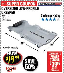 40 in. 300 lb. Capacity Low-Profile Creeper