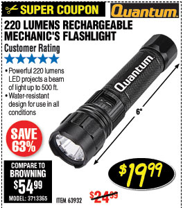 220 Lumen Rechargeable Flashlight