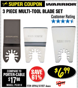 Multi-Tool Blade Set 3 Pc