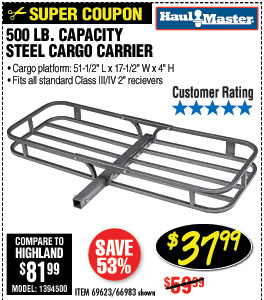 500 lbs. Steel Cargo Carrier
