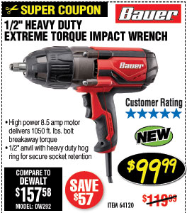 1/2 in. Heavy Duty Extreme Torque Impact Wrench