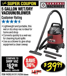 5 gal. Wet/Dry Vacuum/Blower