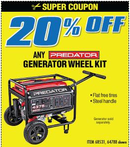 20% off Generator Wheel Kits