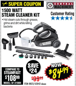 1500 Watt Steam Cleaner Kit