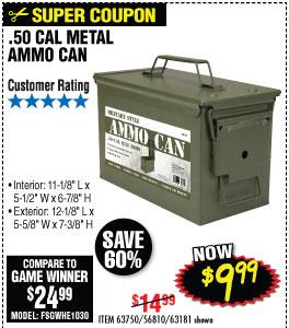.50 Cal Metal Ammo Can