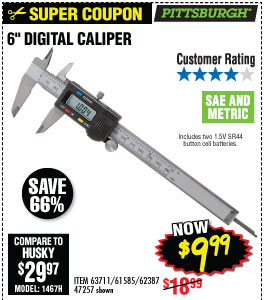 6 in. Digital Caliper