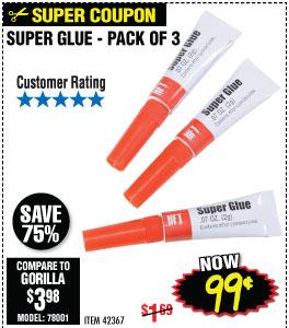 3 Piece Super Glue