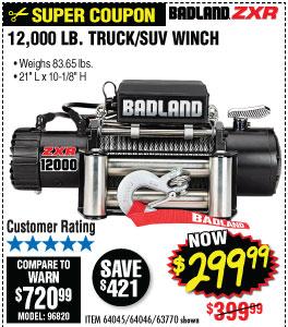 ZXR 12000 Lbs. Truck/SUV Winch