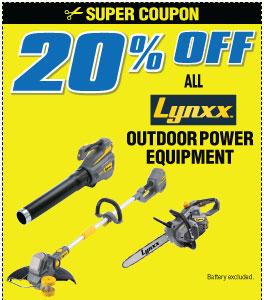 20% off Lynxx Items