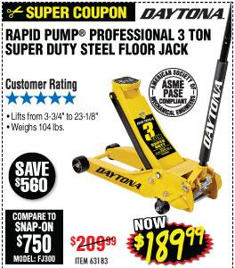 3 Ton Professional Steel Floor Jack - Super Duty