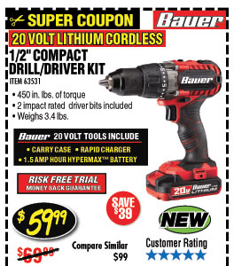 20V Hypermax™ Lithium 1/2 in. Drill/Driver Kit