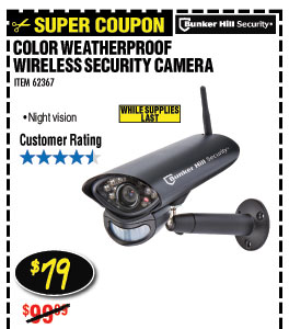Wireless Color Security Camera with Night Vision