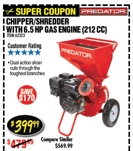 6.5 HP (212cc) Chipper Shredder