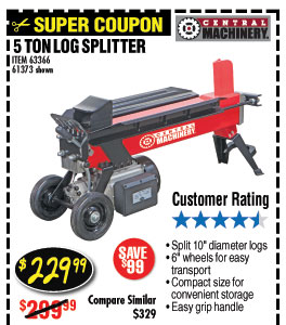 5 TON LOG SPLITTER
