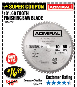 10 in. 60T Finishing Circular Saw Blade