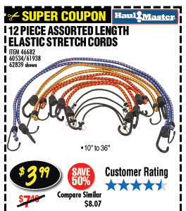 412 Pc Assorted Length Elastic Stretch Cords