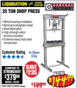 H-Frame Industrial Heavy Duty Floor Shop Press