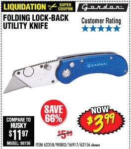 Folding Lock-Back Utility Knife