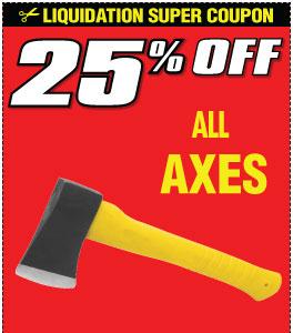 25% off All Axes