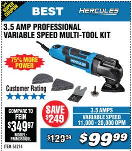 3.5 Amp Variable Speed Oscillating Multi-Tool Kit