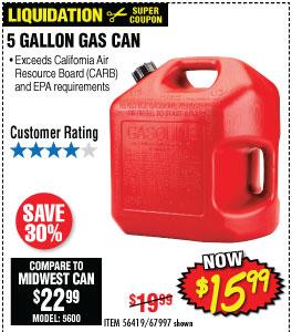 5 GALLON GAS CAN