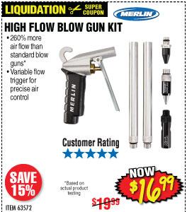 High Flow Blow Gun Kit