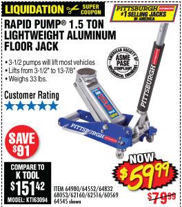1.5 Ton Aluminum Racing Floor Jack with RapidPump®