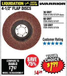 4-1/2 in. 36 Grit Flap Disc