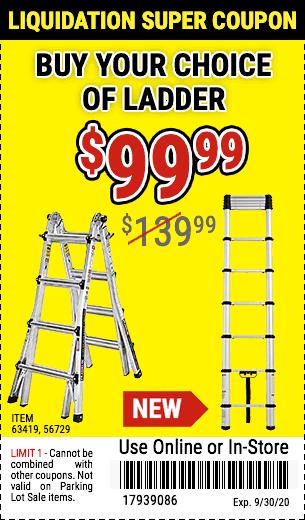 Buy YC Ladder sku 63419 or 56729 @ new price