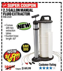 2.3 gal. Manual Fluid Extractor