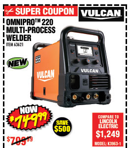 OmniPro™ 220 Multiprocess Welder with 120/240 Volt Input