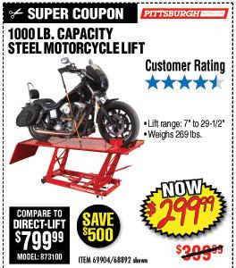 1000 lbs. Steel Motorcycle Lift