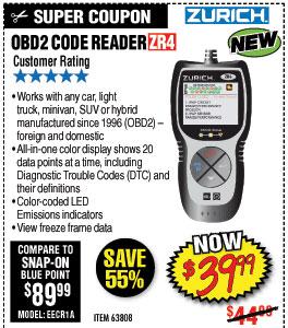 ZR4 OBD2 Code Reader