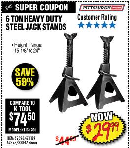 16 ton Steel Jack Stands