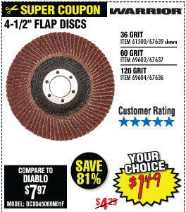 4-1/2 in. 36 Grit Flap Disc