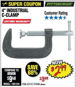 4 in. Industrial C-Clamp