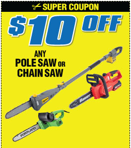 $10 off Any Chainsaw