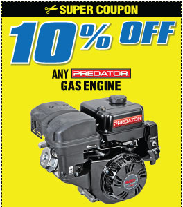 10% off Any Gas Engine