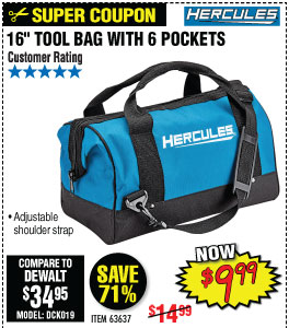 16 in. Tool Bag with 6 Pockets