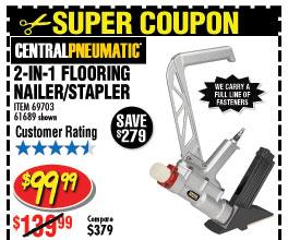 2-in-1 Flooring Air Nailer/Stapler