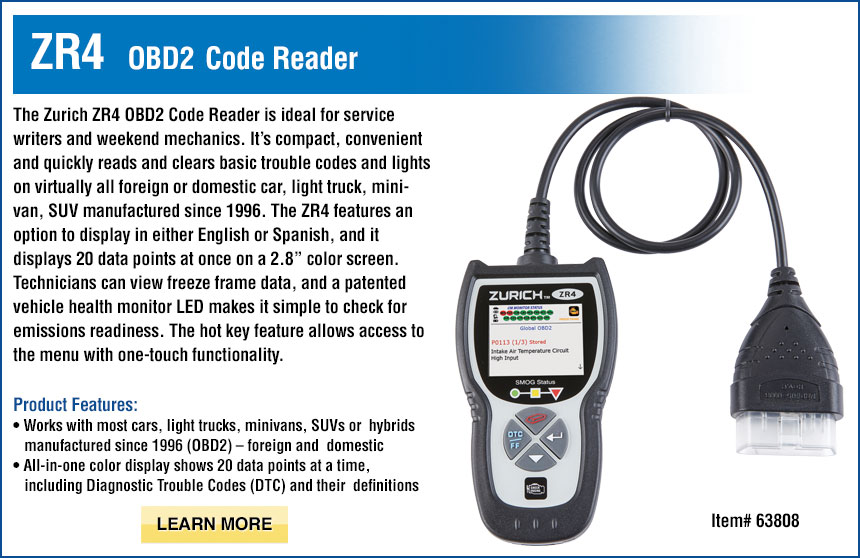 ZR4 OBD2 Code Reader