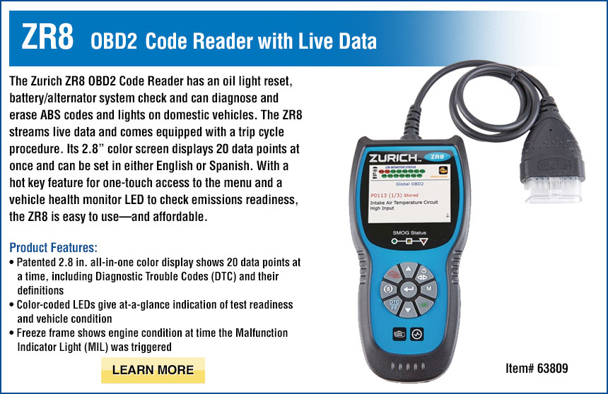 ZR8 OBD2 Code Reader