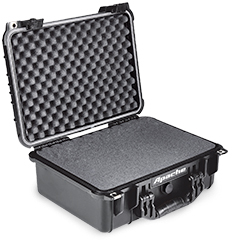 Apache 3800 Weatherproof Protective Case, Large, Black
