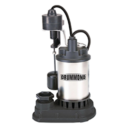 1 HP Submersible Sump Pump With Heavy Duty Vertical Float Switch, 6000 GPH