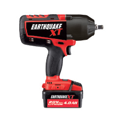 Earthquake 20V Max Lithium-Ion Cordless 1/2 in. Xtreme Torque Impact Wrench Kit - 63852