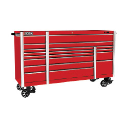 ICON 73 in. X 25 in. Professional Roll Cab, Red - 56142